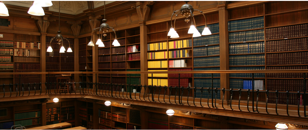 library image with thousands of referenced books